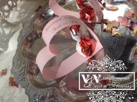 Csoki bonbon esküvői köszönetajándék a szívben szívből:)