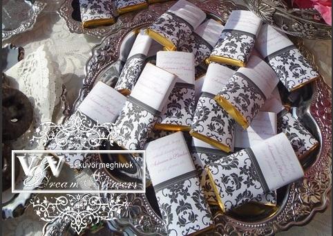 Csoki köszönetajándék damaszkuszi mintával