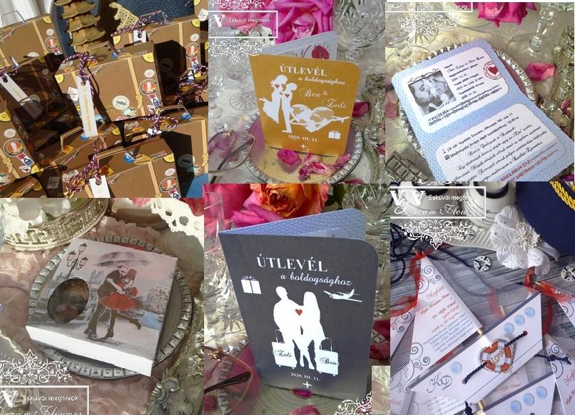 Tematikus esküvői trendek az Új esküvői szezonra 1. rész - UTAZÁS témájú esküvői meghívók